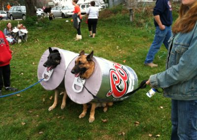 Klem's hosts an annual Dog Halloween Costume contest that has over 70 dogs in costume.