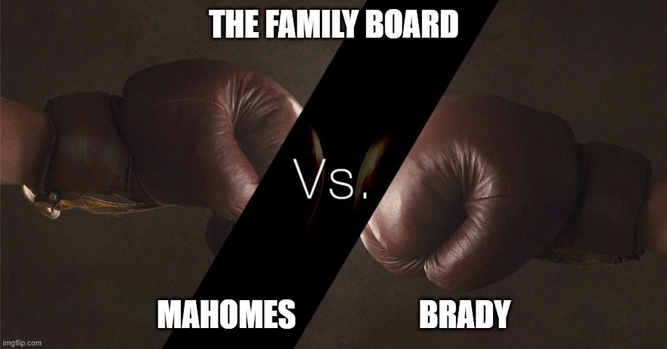 Who's Your Board Member – Super Bowl Edition – Mahomes vs. Brady