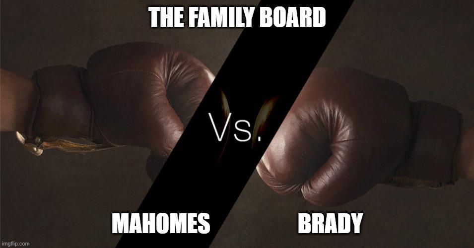 Who's Your Board Member – Super Bowl Edition – Mahomes vs. Brady